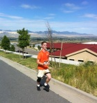 Robert Lockard running the Utah Rivalry Relay, Deja Reviewer