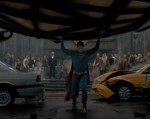 Superman has the Daily Planet globe on his shoulders just like the makers of Superman Returns had the weight of the world on their shoulders in audience expectations.
