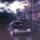 Marty McFly, the DeLorean time machine, and a bolt of lightning