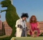 Edward Scissorhands about to shave a puppy, Deja Reviewer