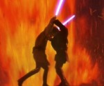 Anakin Skywalker and Obi-Wan Kenobi fight to the death on a deadly lava planet.