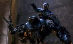 RoboCop and RoboCain fight to the death.