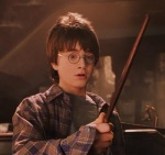 Harry Potter does a lot of growing in the first film in his series, Harry Potter and the Sorcerer's Stone, but he accomplishes little else.