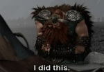 Stoick repeats his son's line when he finds both Toothless and Hiccup in a damaged state.
