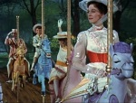 Mary Poppins and crew take their Merry-go-round horses where they shouldn't be able to go.