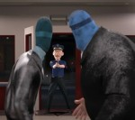 Mr. Incredible and Frozone unwittingly break into a jewelry store while saving people from a burning building and the police assume they are robbers.