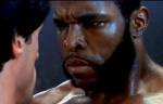 Mr. T plays Clubber Lang in Rocky III.