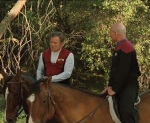 We see Kirk and Picard looking very out of place as they go horseback riding in the Nexus.