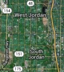 Why is West Jordan directly north of South Jordan?