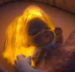 Baby Rapunzel was infused with the power of the healing flower.