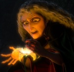 Mother Gothel uses the magical healing flower to stay alive for hundreds of years.