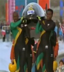 As they carry their damaged bobsled across the finish line, the Jamaican team won the respect and admiration of the world.