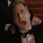 Michael Corleone reacts in horror to his daughter being killed when all he wanted was to protect her.