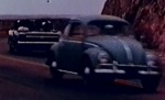 Hey, look. Michael and his family even pass the Torrances in the VW Bug on their way to different hotels.