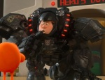 "Wreck-It Ralph disguises himself as a warrior and goes into ""Hero's Duty"" to win a medal."