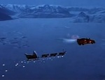 Santa flies off in his sleigh to intercept Patch before he is blown to bits.