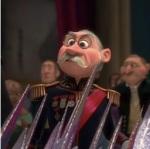 Elsa tells the Duke of Weselton that his kingdom will no longer be the main trading partner of Arendelle.