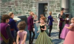 Rapunzel makes a brief cameo in Frozen.