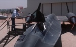 Hawk spends time admiring a decommissioned SR-71 Blackbird.
