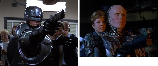 RoboCop tests his targeting system first to show off and later to work out a few kinks.