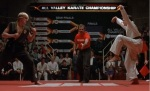 Daniel Larusso pulls off a stunning win despite his leg injury using a technique that is iconic to the original movie.