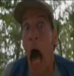 Ernest reacts to a family of angry badgers.