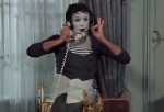 Funn is not successful in getting the famous mime Marcel Marceau to play a role in his silent movie.