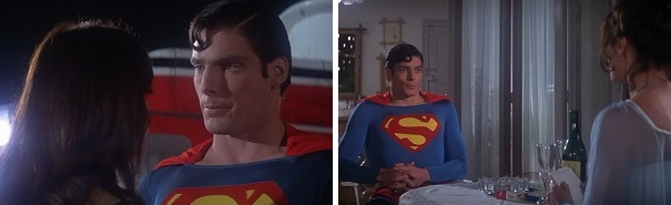 Superman has two interviews with Lois Lane, and he saves her life twice, too.