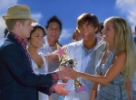 Sharpay graciously gives the award away to her brother at the end of the film.