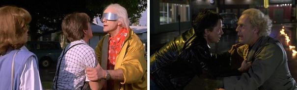 Doc interrupts Marty and then Marty interrupts Doc.