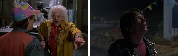 Doc leaves Marty in 2015 and 1955.