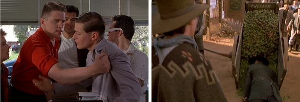 George McFly is too scared to stand up to Biff, but Marty handles Buford just fine.
