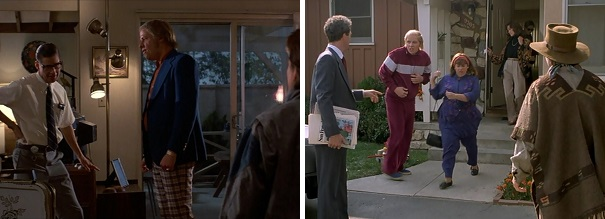 Marty is frustrated and later relieved to find his family at home.