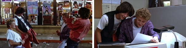 Bill and Ted get helpful advice from their future selves.