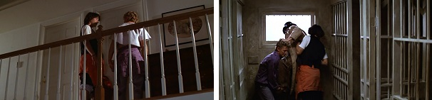 Bill and Ted get kicked out of Bill's room and then break historical figures out of Ted's dad's prison.