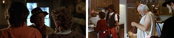 Billy the Kid forces Bill and Ted to help him, and Missy forces them to clean the house.