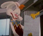 Roger Rabbit wrote his wife a love letter on what turns out to be Mr. Acme's will, written in disappearing reappearing ink.