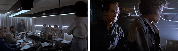 Ripley is stripped of her title by the company, but later she's the one giving orders.