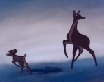 An unseen attacker shoots Bambi's mother off screen.