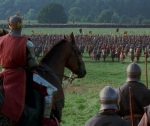 King Longshanks overlooks the Battle of Falkirk where he nearly comes face to face with William Wallace.