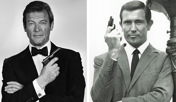 Roger Moore combined great acting and great looks to replace model-but-not-actor George Lazenby as James Bond.
