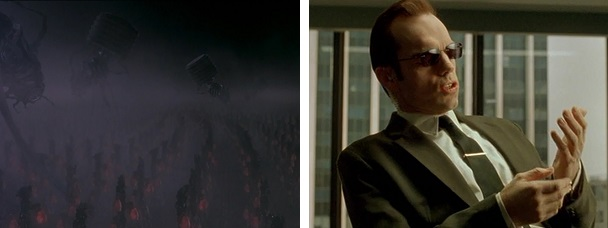 The machines have overtaken their creators, but Agent Smith still describes humanity as a virus.