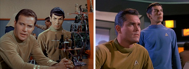 William Shatner became Captain James T. Kirk in Star Trek's second pilot, replacing Jeffrey Hunter's Captain Christopher Pike permanently.