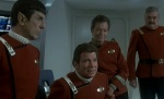 Captain Kirk and his crew prepare for new adventures at the end of Star Trek IV.