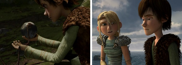 Hiccup asks Toothless why the dragon didn't kill him, and Astrid asks Hiccup why he didn't kill Toothless.