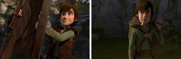 Hiccup goes to train with Toothless and later he is followed by Astrid.