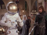 NASA astronaut Tom Trimble accidentally lands in King Arthur's kingdom in the year 508.