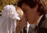 Robbie and Julia get married at the end of The Wedding Singer.