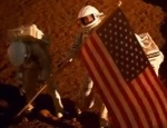 The rescue crew replants the American flag on Mars, but we never saw it planted the first time in Mission to Mars.