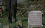 James Bond visits the grave of his dead wife at the start of For Your Eyes Only.